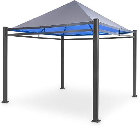 blumfeldt Pantheon Illumina Carpa - Gazebo, Pérgola, Estructura de Aluminio, Superficie del tejadillo: 3x3 m, Luz Superior BrightNight: luz LED de ...