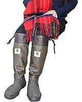 バードウォッチング長靴[ブーツ](収納袋付)ブラウンM