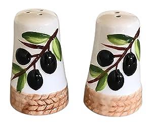 Bonita Home Tuscan Olive Design Salt and Pepper Shakers