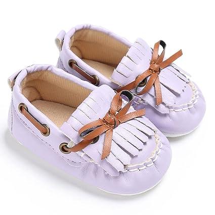 acac125ae49 Sunbona Infant Baby Boys Girls Cute Bowknot Tassel Anti-Slip Casual Sneakers  Soft Sole Slip