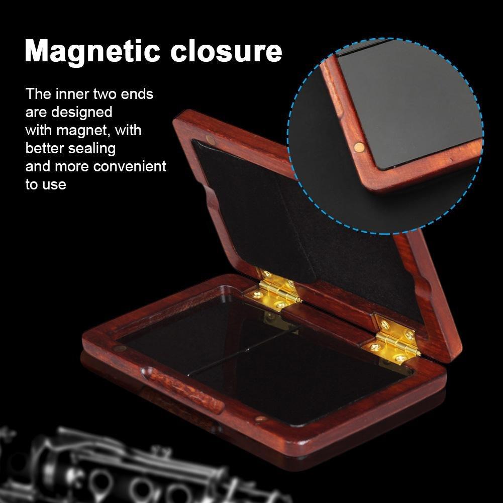 clarinetto o ancia portatile pu/ò contenere due strumenti ad ancia Custodia in legno di noce nero per sassofono Amber Red