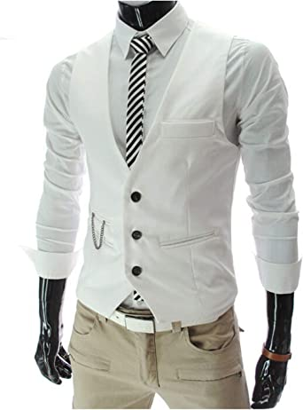 Chalecos de Vestir para los Hombres para Hombre Slim Fit Traje ...