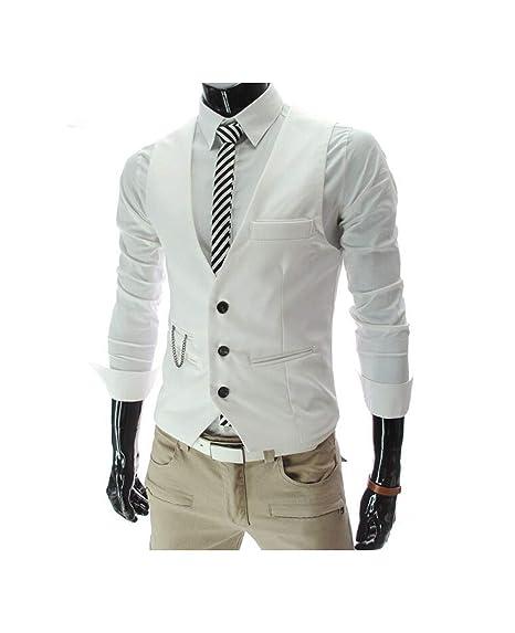 Chalecos de Vestir para los Hombres para Hombre Slim Fit ...