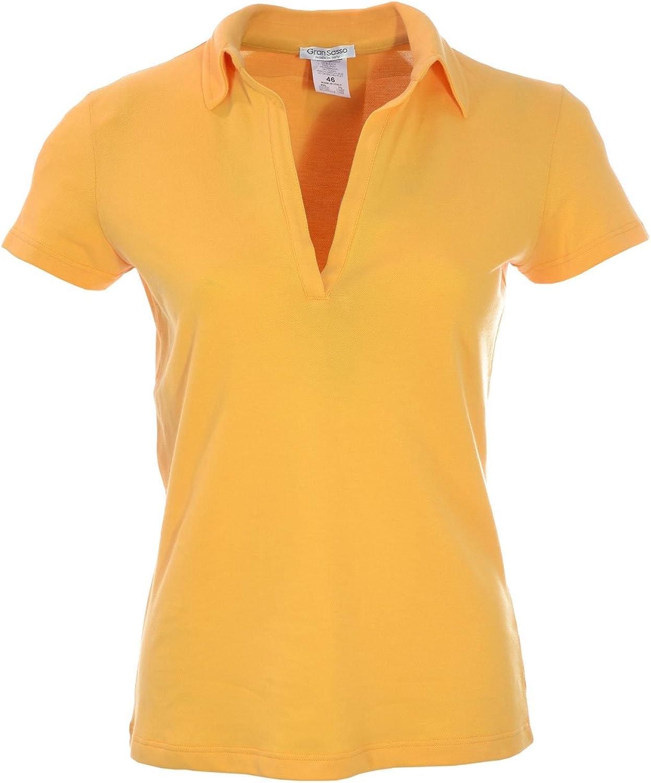 GRAN SASSO - Polo - para mujer amarillo 42: Amazon.es: Ropa y ...