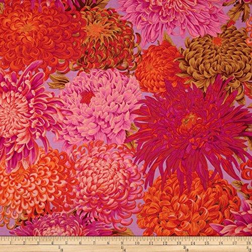 FreeSpirit Fabrics Kaffe Fassett Collective Japanese Chrysanthemum Pink Fabric by The Yard,