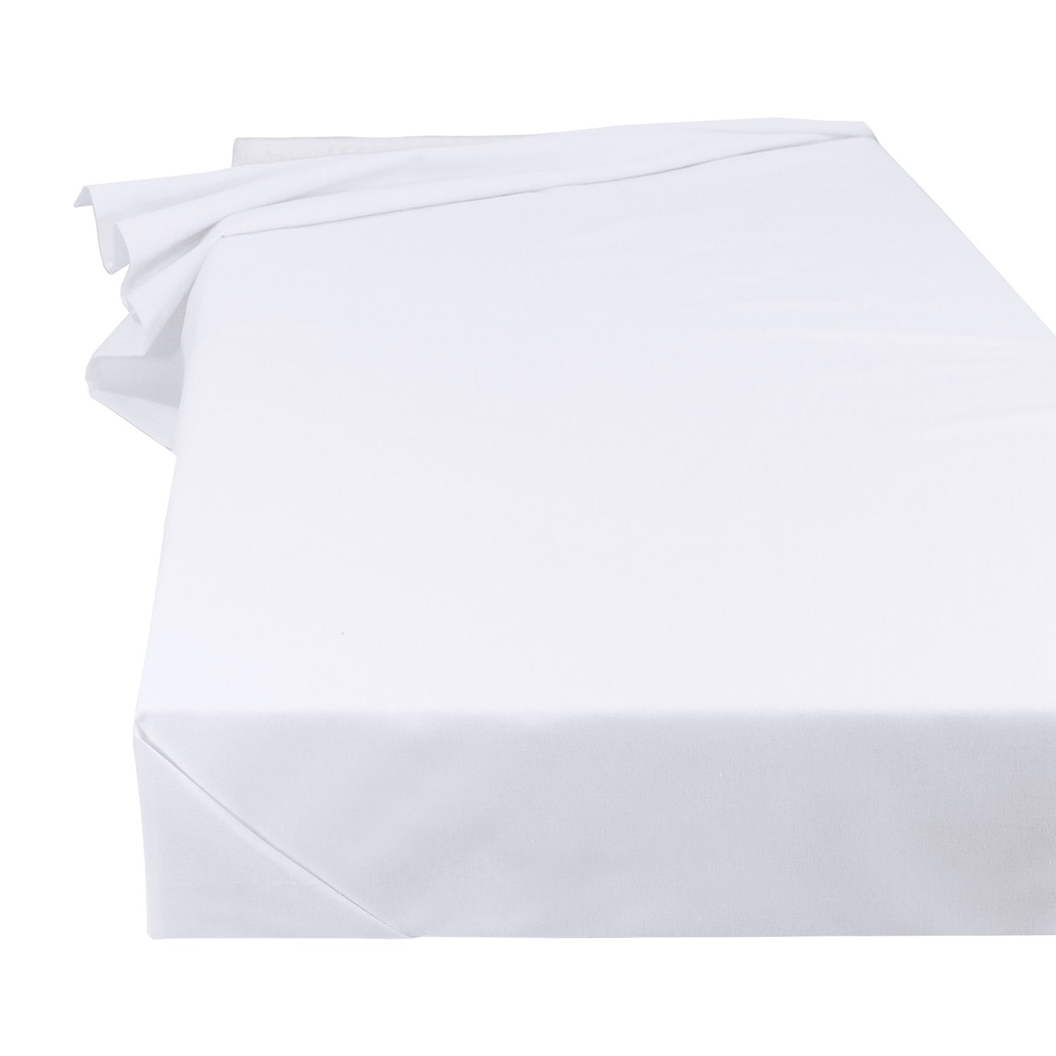 Bedsheet bedlinen household linen tablecloth in white, size 150 x 250 cm made from 100% cotton Green Mark Handels GmbH