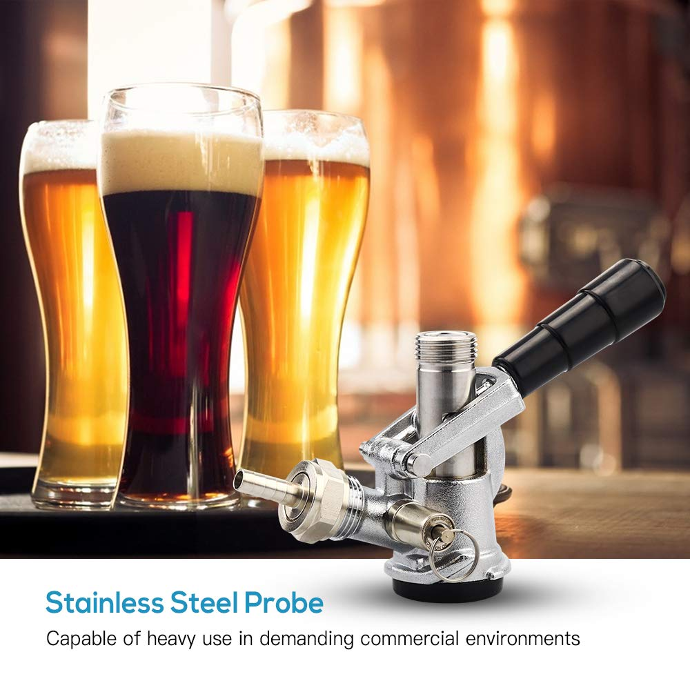 MRbrew Beer Keg Coupler US Sankey D System Tap with Stainless Steel Probe by MRbrew (Image #2)
