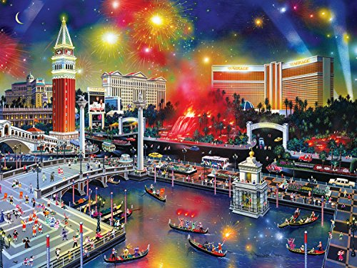 (Buffalo Games Las Vegas The Grand View from The Cities in Color Collection Jigsaw Puzzle (750 Piece))