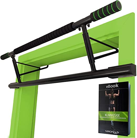 """Magnoos Pull-Up-Bar """"Matador"""" - Premium Doorway Chin-Up Bar - No Screws, No Installation - Perfect for Indoor Fitness and Gym at Home - 20cm higher in ..."""