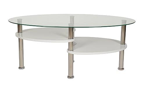 Cool Tsideen Design Wohnzimmer Glastisch Couchtisch Kaffeetisch X Cm Oval  Mm Glas With Wohnzimmer Glastisch