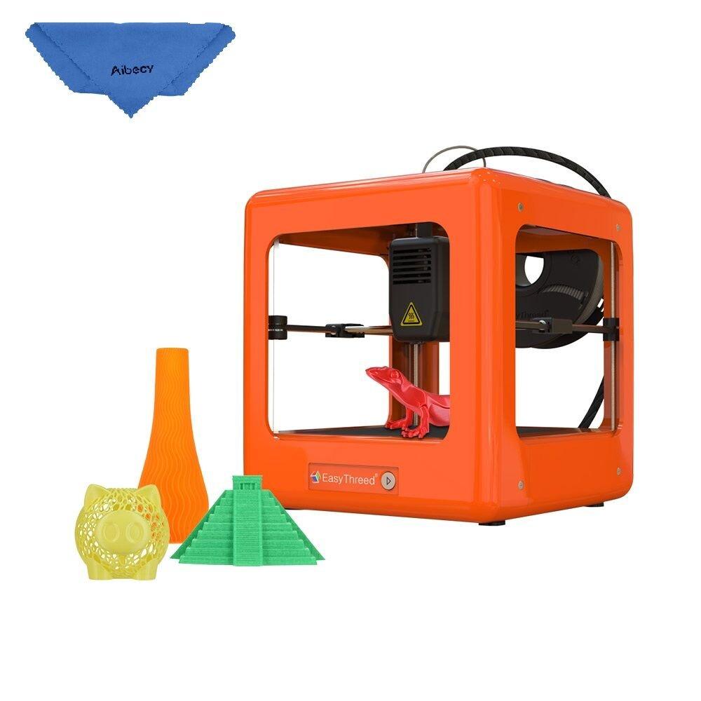 Aibecy easythreed Nano 3D Drucker Desktop Endschalld/ämpfer Operation leicht Hohe Pr/äzision f/ür die Studenten orange