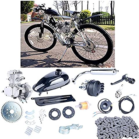 YaeCCC UPGRADED 80cc 2-Stroke Motor Engine Kit Gas for Motorized Bicycle Bike Silver - Clutch Lever Adjustment
