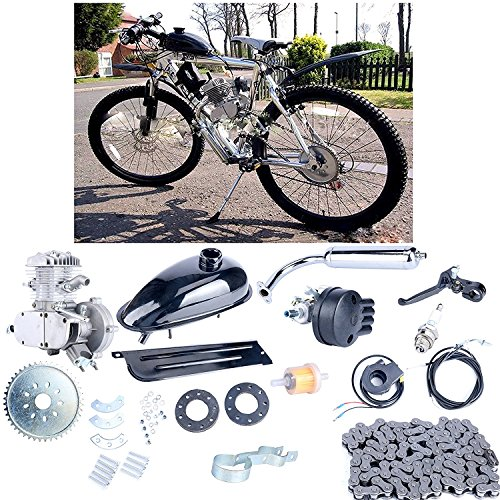 Buy Bargain Yaekoo 80cc 2-Cycle 2 Stroke Petrol Gas Engine Motor Kit for Motorized Bicycle Bike Silv...