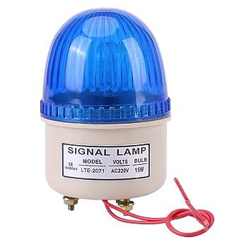 Akozon Warning Light AC 220V 15W LED Flash Strobe Light Warning Lamp Industrial Machine Tool Red Green Blue Yellow Red