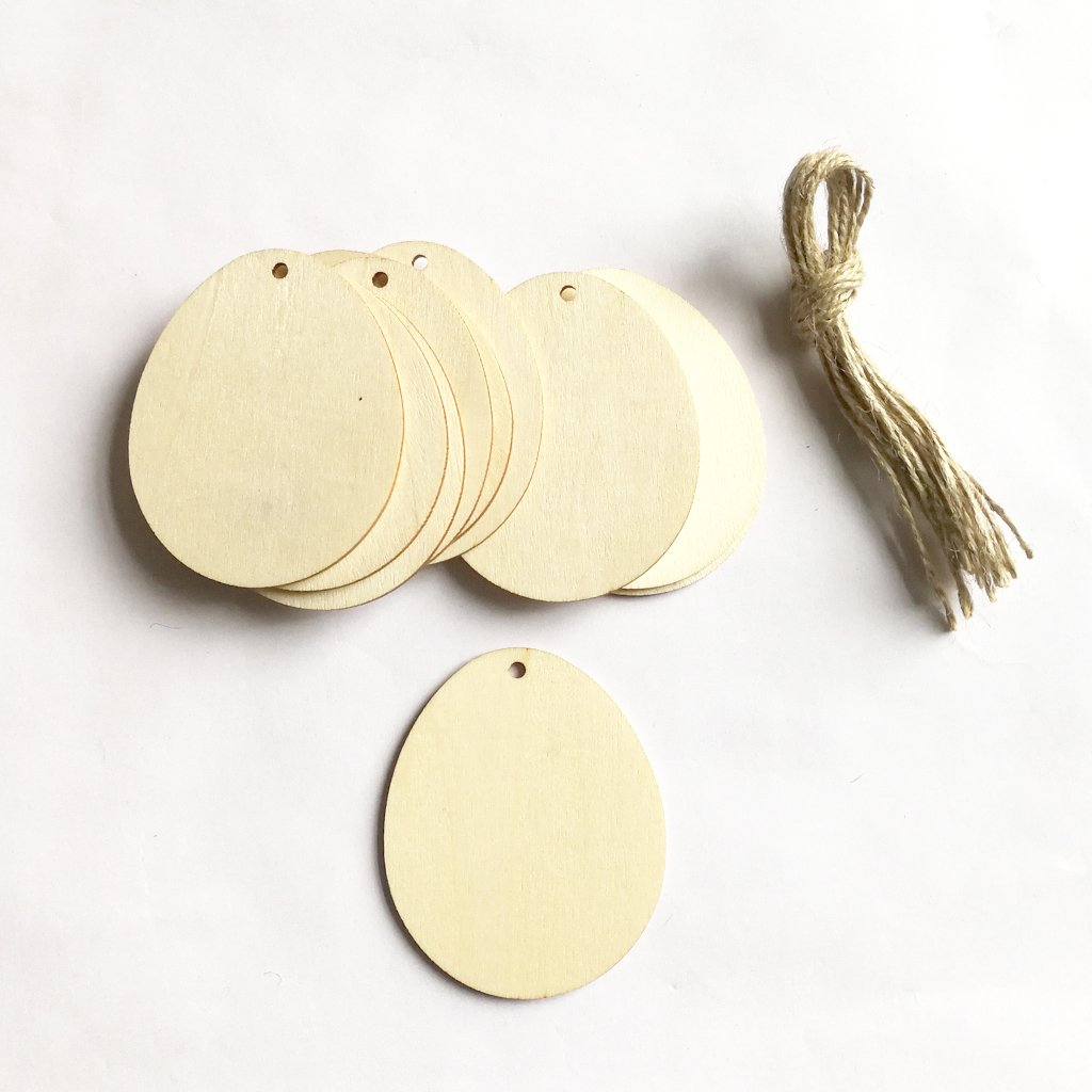 Binwwede DIY Wood Pendant Decorations 10 Pcs Creative Hand-Filled Children's Gifts Family Ornaments With Lanyard (Egg) by Binwwede (Image #3)