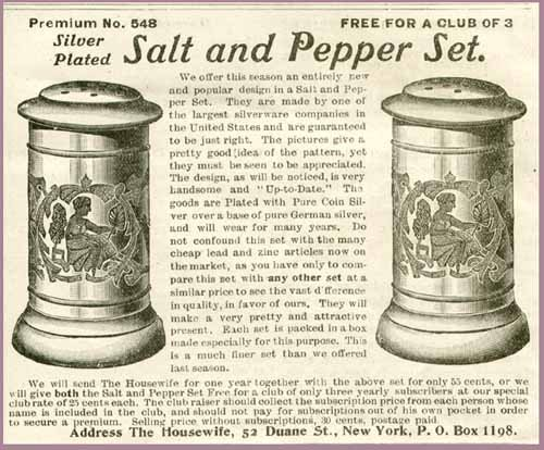 - Nice 1903 AD for Silver Plated Salt & Pepper Sets Original Paper Ephemera Authentic Vintage Print Magazine Ad/Article