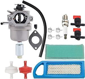 Kizut 594593 Carburetor with Air Filter Tune Up Kit for Nikki 31H777 31C707 31P777 21B000 21B807 Carb for 796109 591731 14hp 18hp Lawn Mower- Craftsman LT1000 Carburetor