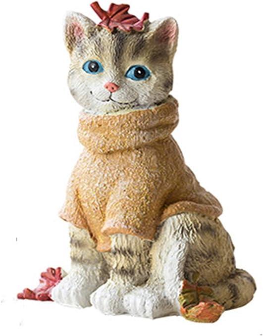 Decoración del hogar Adornos para gatos Ropa amarilla Adornos para ...