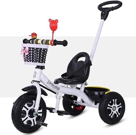 JINHH Bicicletas para niños con estabilizadores Bicicletas Plegables Triciclo para niños 1-3-6 años Trolley Grande Bicicleta para bebés Bicicleta para niños Bicicleta para niños (Color: Blanco): Amazon.es: Deportes y aire libre