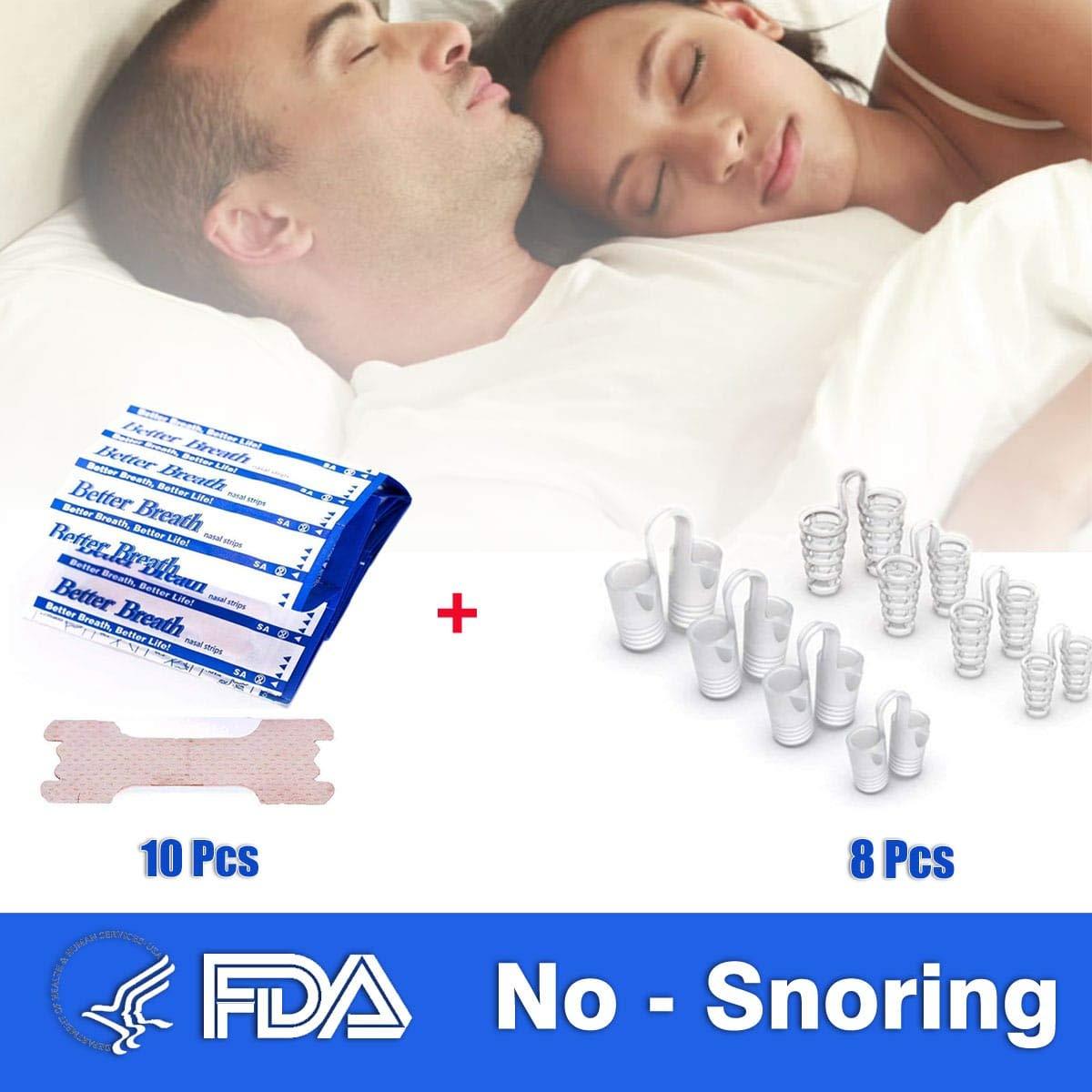Anti Ronquido Dilatador Nasal 8 Piezas y Tiras Nasales 10 Unidades: Amazon.es: Salud y cuidado personal