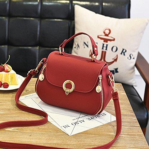 fashionLadies Borsa rosso viola a Casual Daily 19X17X9CM New spalla wt8dzt