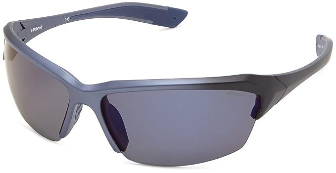 Polaroid Gafas de sol polarizadas p7319s rectangular gafas de sol Azul Blue & Black
