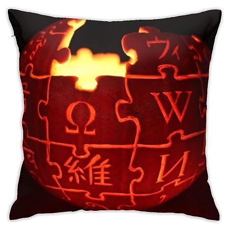 viata sock Wikipedia Logo Jack O Lantern Pillow Cover 18 ...