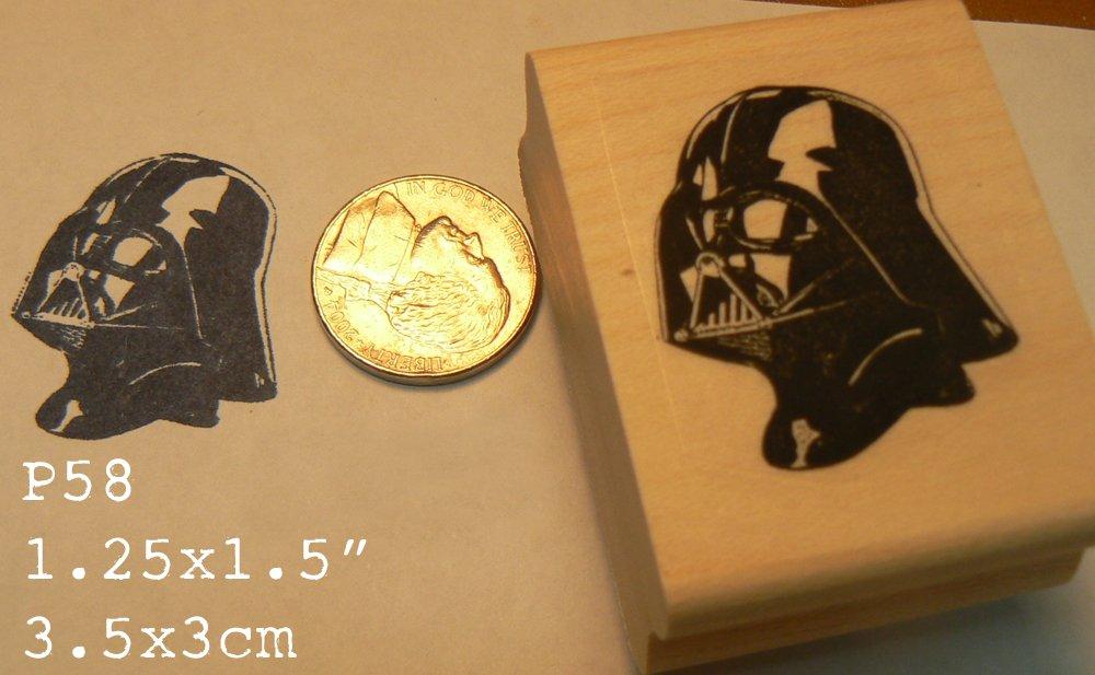 Darth vader P58 line art B rubber stamp