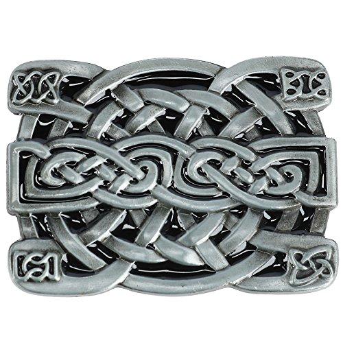 Celtic Knot Buckle (CTM Celtic Knot Belt Buckle, Dark Silver)