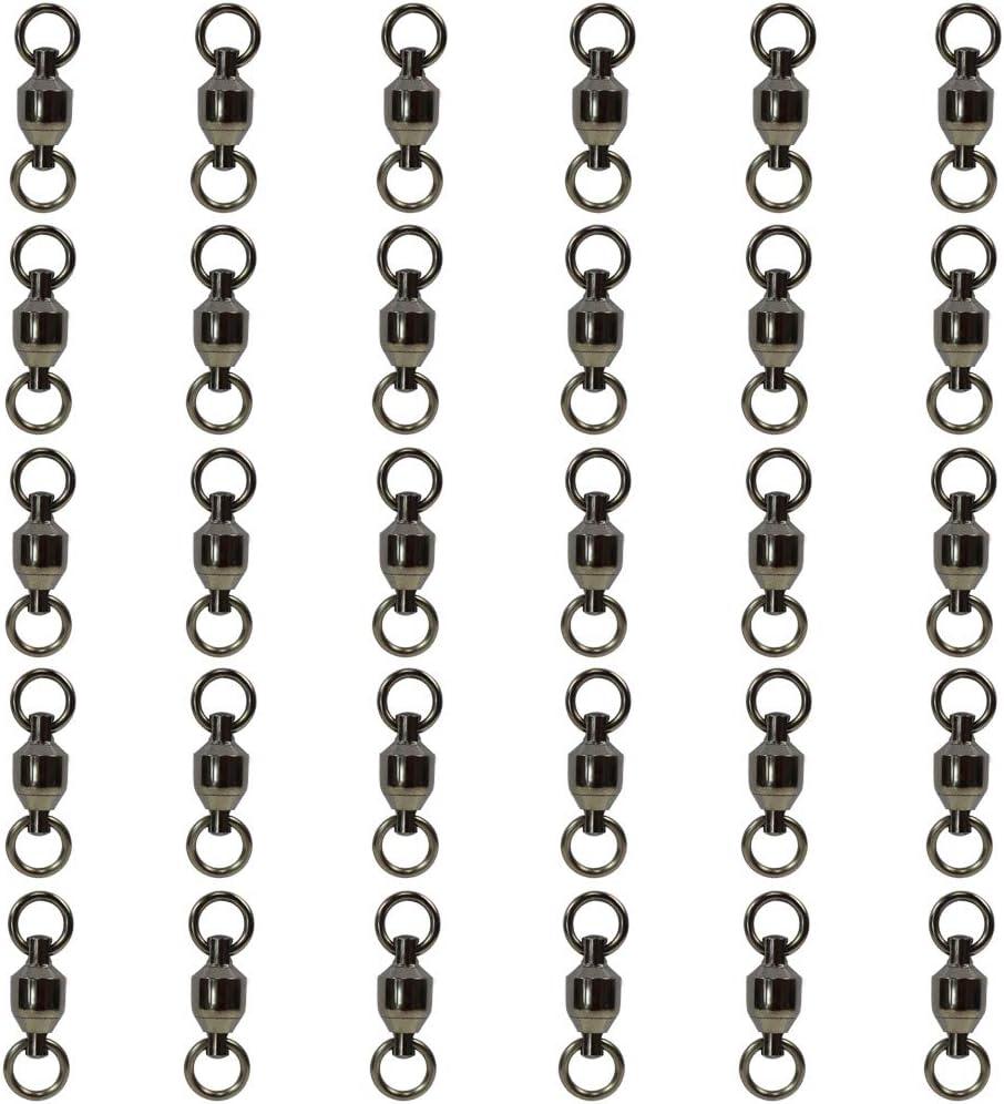 Croch 30 /émerillons de p/êche avec Anneaux Solides pour Ligne de p/êche et Crochets