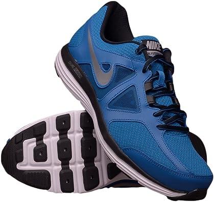 Nike Dual Fusion Lite 2 - Zapatillas de Running para Hombre, Color Azul/Plateado/Negro/Blanco, Talla 44: Amazon.es: Zapatos y complementos