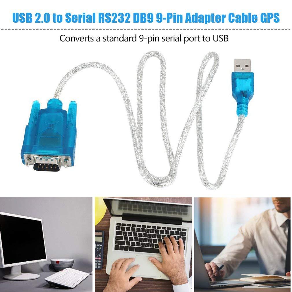 Joyleah USB 2.0 to Serial RS232 DB9 9 PIN Adapter Cable PDA Cord GPS Converter