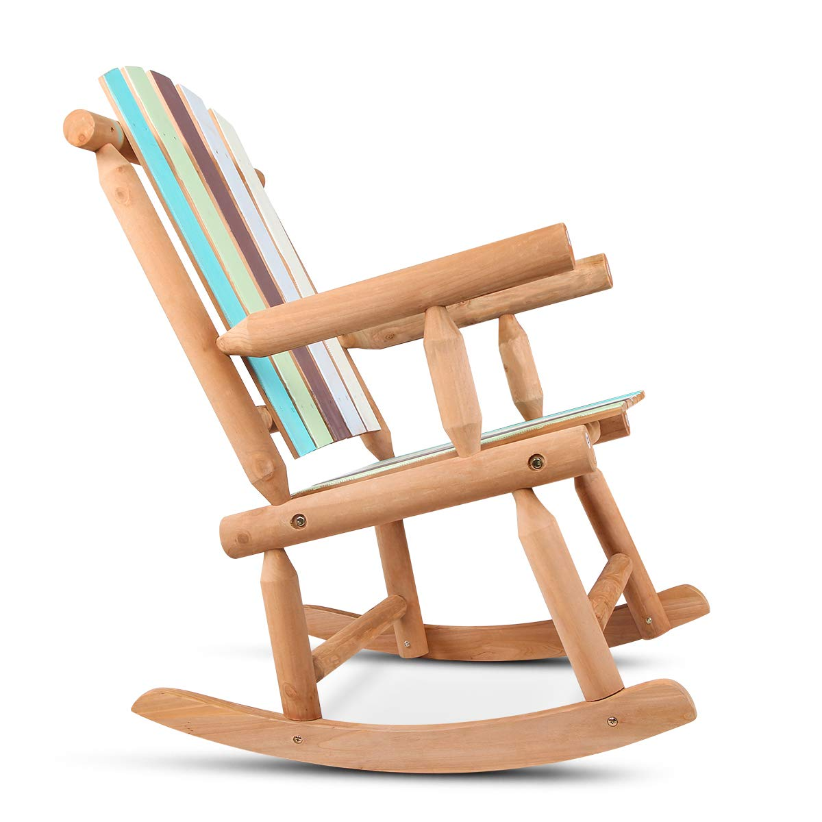 Amazon com vh furniture adirondack rocking chair outdoor wooden rocking chair with colorful painting for patio porch deck garden outdoor