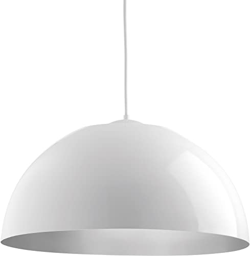 Progress Lighting P5342-3030K9 Dome LED Pendants, White