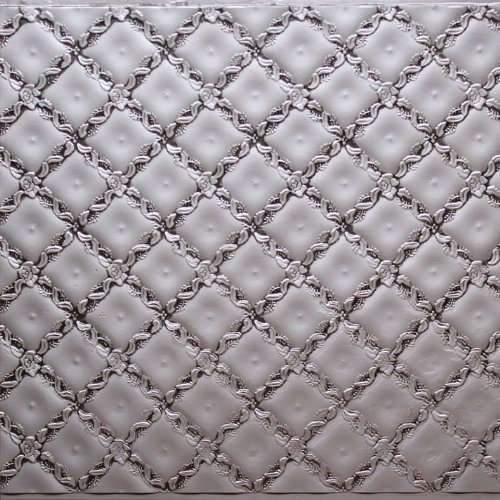 Antique Silver Plastic Kitchen Backsplash Wc-90 Wall Covering Fire Rated - 25ft. Roll Glue On,Nail On,Staple On,Tape On!