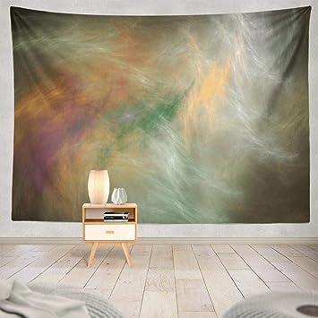 Amazon Com Wayato Grey And Yellow Art Wall Tapestry
