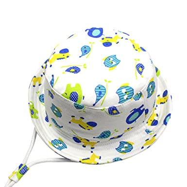 GEMVIE Chapeau Bob Bébé Enfant Chapeau de Soleil Unisexe Anti-UV Solaire  pour Plage Outdoor 8496ce942f3