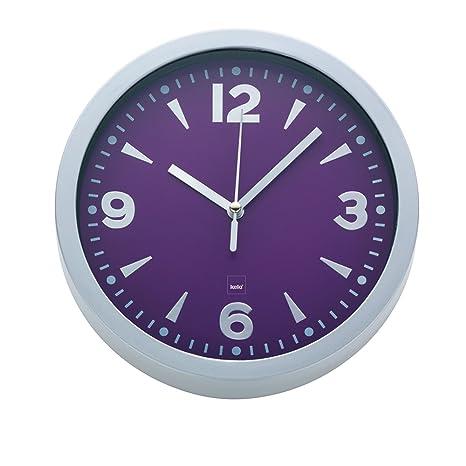 kela 21297 - Reloj de pared para cocina, color morado