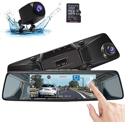 Spiegel Dashcam 4,3 Zoll kabellose Auto R/ückspiegel R/ückfahrkamera Kit R/ückfahrkamera-Kit mit R/ückfahrkamera