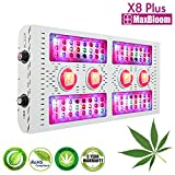 LED grow light full spectrum for indoor plants veg and flower dimmable COB 12-band UV&IR MaxBloom high yield 800W X8 Plus professional led grow light for marijuana over 9 years