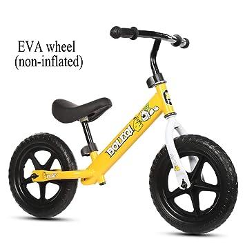 shuhong 12 Pulgadas Bicicleta Sin Pedales para Niños Manillar Ajustable Y Altura del Asiento Rueda Neumática/Rueda EVA 2-6 Años / 80-120cm,B: Amazon.es: ...