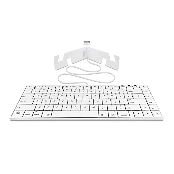 Amazon.com: Macally 30 Pin Wired Keyboard for iPad 3/2/1, iPhone 4s/4/3G/3, and iPod Touch (iKey30): Electronics