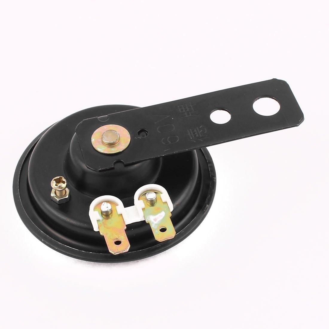 sourcingmap 60V Ruidoso Negra Bocina El/éctrica Trompeta de Alarma para Moto 65mm
