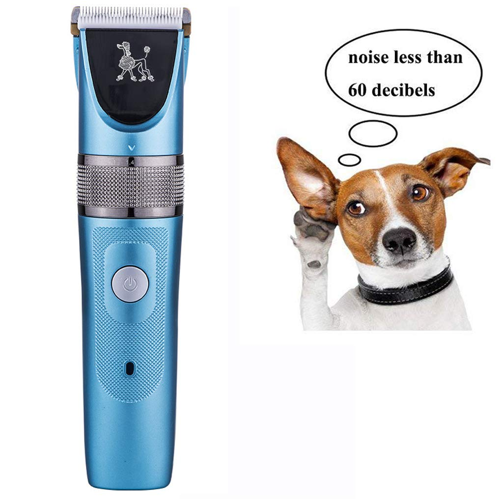 Dog Clippers,Ultra Quiet Electric Low Vibration Pet Clipper Cordless Pet Hair Clippers Kit Safety Ceramic Blade