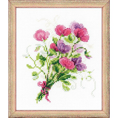 RIOLIS 1606 - Bouquet With Sweet Peas - Counted Cross Stitch