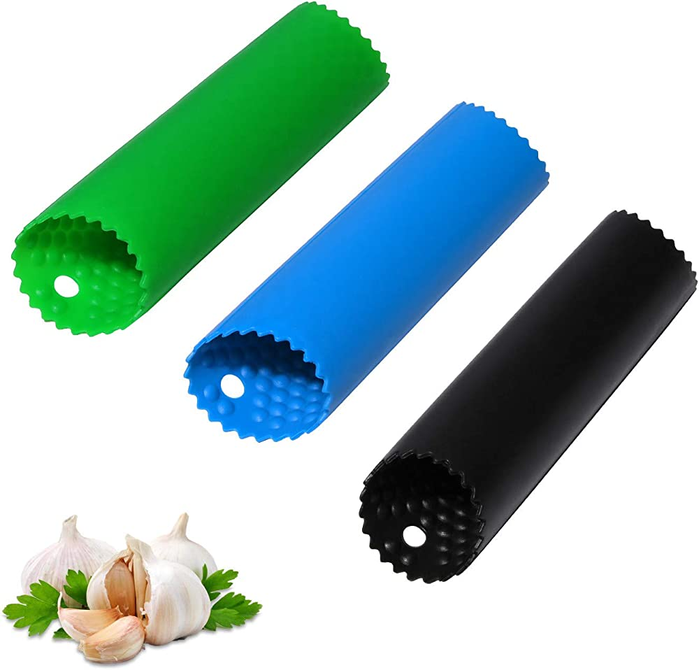 three different colored tube