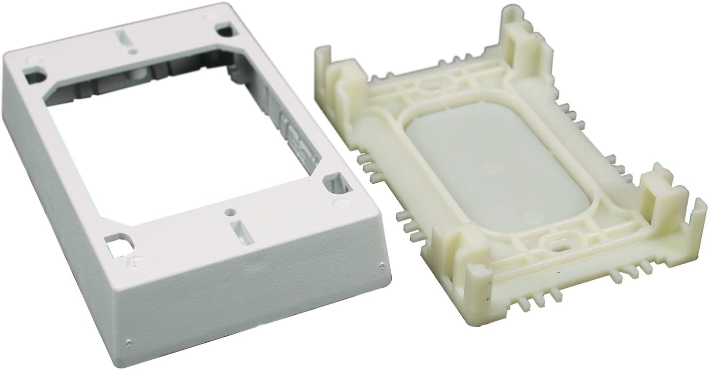 Legrand White Wiremold NMW2 Single Gang Plastic Switch//Outlet Box