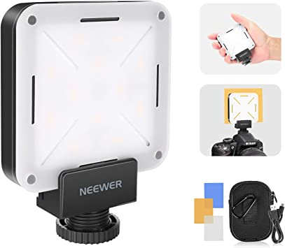 Neewer Mini LED Video Luz Bolsillo En-Cámara 12 Piezas con ...