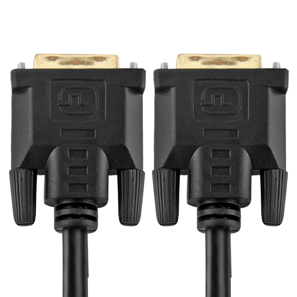 TNP DVI to DVI DVI-D Cable (25 Feet) - Gold Plated DVI Digital Dual Link Male Connector Wire Cord for PC Computer LCD Monitor Display - Black