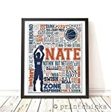 Basketball Typography Personalized Print - PrintChicks Wall Art Decor Poster Team Gift